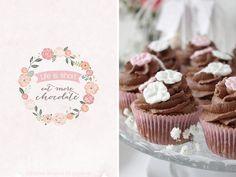 Dreierlei Liebelei: Zwei Jahre Dreierlei Liebelei {Schokoladen-Cupcakes + Freebie}