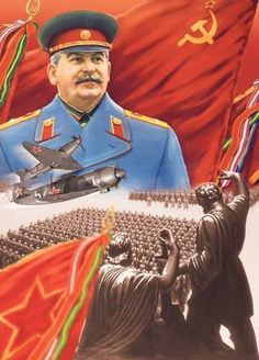 this reminds me of communism because they have a leader - Messiah Aesthetic Ww2 Propaganda Posters, Communist Propaganda, Russian Revolution 1917, Joseph Stalin, Socialist Realism, Soviet Art, Red Army, Communism, Military Art