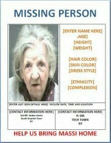 Missing Person Template Pintraci Muir On Missing Kids Poster  Pinterest