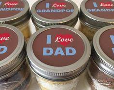 Cupcake Jars- Cupcake Mason Jars- Mason Jars- I Love Dad- I love Grandpop- Father's Day- Gifts for Dad- Sweet Tooth