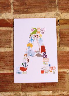 I bought the L one for the burpmonster.  Here's the 'A is for' 11 x 17 Letter A Poster by eakdesign on Etsy, $16.50