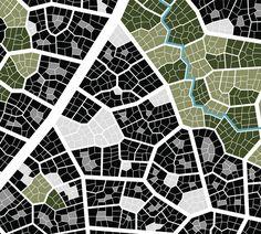 Urban Tissue Experiment on Behance- biophilic design.