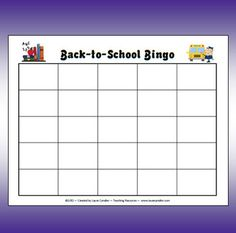 FREE Back-to-School Bingo - Fun way to have students learn each other's names First Day Of School Activities, School Games, I School, Back To School, School Stuff, School Ideas, Library Activities, Teaching Activities, Classroom Activities