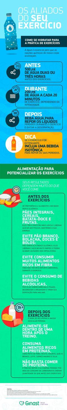 Infografico - Aliados do exercicio fisico