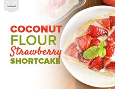 This coconut flour strawberry shortcake is made in a skillet so it's a breeze to whip up! This yummy Paleo dessert is also low carb and refined sugar free. Paleo Dessert, Fun Desserts, Delicious Desserts, Healthy Desserts, Banting Desserts, Dessert Dishes, Diabetic Snacks, Healthy Eats, Healthy Life