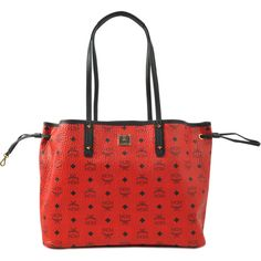MCM Reversible Shopper Project Visetos ($577) ❤ liked on Polyvore featuring bags, handbags, tote bags, red, shopping tote bags, red tote bag, shopper handbags, shopper tote and mcm tote