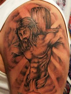 Jesus Half Sleeve Tattoo : jesus, sleeve, tattoo, Jesus, Sleeve, Tattoos, Drawings, Ideas, Tattoos,, Tattoo