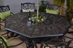 Hanamint Cau Outdoor Octagonal Inlaid Lazy Susan Table