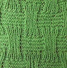 Basket knitting stitches