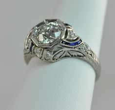 Art Deco ring with Sapphires