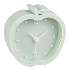 Horloge à poser pomme vert menthe