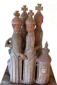 Ceramics by artist Margit Kovacs - bewri Human Sculpture, Sculptures, Hungary, Folk Art, Art Decor, Old Things, Museum, Pottery, Ceramics