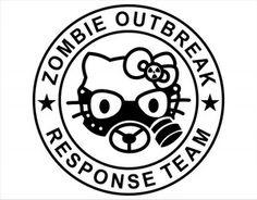 Hello Kitty Zombie Response Team Vinyl Decal Sticker