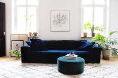 Meet LUCA VELVET deep blue  our new, comfy velvet sofa  #melimelihome #velvet #sammet