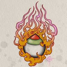 I've got this flaming hoju design available to tattoo email or call the shop to book in. Japanese Tattoo Art, Japanese Tattoo Designs, Japanese Art, Traditional Japanese Tattoo Flash, Traditional Tattoo, Tibetan Symbols, Tibetan Tattoo, Vampire Tattoo, Asian Tattoos