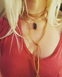 Check out this item in my Etsy shop https://www.etsy.com/listing/474855475/crystal-pendent-tan-leather-choker