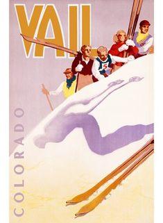 ski poster for Vail Colorado