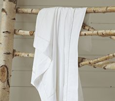 ladder stitched duvet cover...pure white