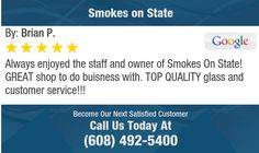 Always enjoyed the staff and owner of Smokes On State! GREAT shop to do buisness with....