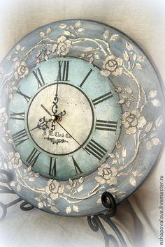"""Часы для дома ручной работы. Ярмарка Мастеров - ручная работа Часы """"Винтаж-2"""". Handmade."""