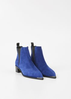 Acne Studios Jensen Suede Ankle Boot (Blue Navy)