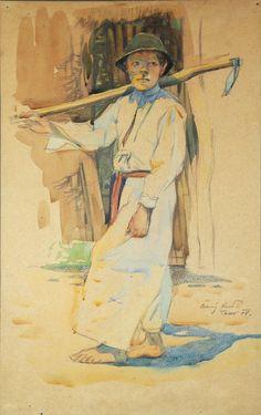 Rudolf Černý: Chlapec z Tasova (Boy from Tasov), 1908