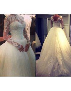 luxusní svatební šaty s krajkovanými rukávy Vivien S - Hollywood Style E-Shop