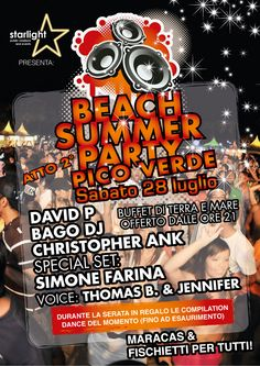 Beach Summer Party - Sabato 28 luglio