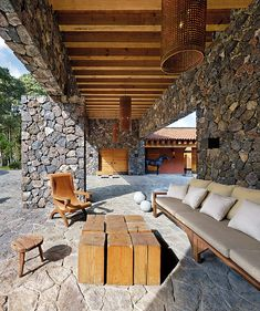 Incredible Stone Facade Design to Spike up Design of Buildings Architectural Digest, Cabana, Amazing Architecture, Architecture Design, Stone Facade, Stair Decor, Facade Design, Stone Houses, Pergola Designs
