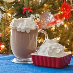 Marshmallow Whipped Cream (perfect for hot cocoa)   •1 cup of whipping cream   •1-2 Tbsp powdered sugar (I like it sweet so I use 2 Tbsp)   •dash of vanilla   •1-2 cups mini marshmallows (I use 1 1/2 cups) - Click image to find more Holidays & Events Pinterest pins