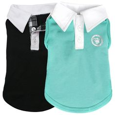 A stretch cotton polo shirt for small dogs.