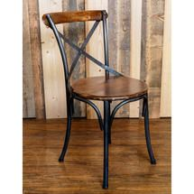Wooden and iron bistro chair - ATFUVF413