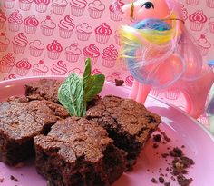 Katharine Hepburn brownies (I have no idea what the My Little Pony is doing in this shot.)