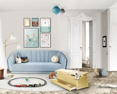 Click in the image to find more kids bedroom inspirations with Circu Magical Furniture! Be amazed with Circu Magical furniture and their luxury design: CIRCU. Home Interior, Modern Interior Design, Luxury Interior, Luxury Furniture, Home Design, Design Ideas, Design Trends, Contemporary Interior, Design Projects