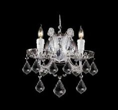 Chrome Finish 2-light Clear Crystals Wall Sconce | Overstock.com Shopping - The Best Deals on Sconces & Vanities