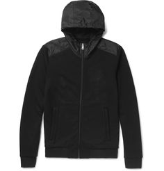 Blending sleek sportif styling with practicality, this <a href='http://www.mrporter.com/mens/Designers/Prada'>Prada</a> zip-up hoodie is an astute option to tackle unpredictable weather. It's fitted with a water-resistant shell hood to provide coverage against rogue showers, while the loopback cotton-jersey is comfortable and wicks away moisture. Wear yours over clean-cut tees and slim flannel trousers.