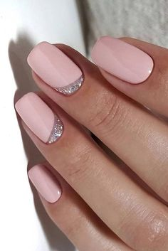 Summer is at the corner! In this post i have collected perfect examples of summer nail designs. You can try different colors and glitter to give them gorgeous look. It is your chance to find creative nail art in sync with your mood. Cute Acrylic Nails, Acrylic Nail Designs, Cute Nails, Pretty Nails, Nail Art Designs, Silver Nail Designs, Shellac Nail Designs, Gel Nail Art, Nail Nail