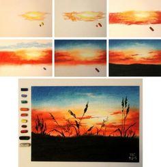 Картинки по запросу рисование пастелью поэтапно