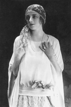 Miss Gladys Cooper in a wedding gown