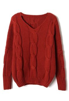 Classic Cable Knit Puff Sleeve Sweater