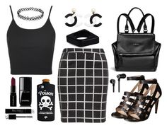 Untitled #197 by gz-d on Polyvore featuring polyvore fashion style Topshop Zizzi French Connection Givenchy Marni Valfré Master & Dynamic Smashbox Chanel Christian Dior clothing