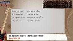 Se Me Olvido Otra Vez - Mana / Juan Gabriel Bass Backing Track with chor...