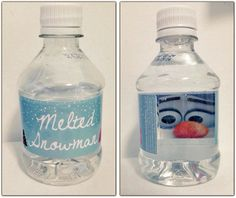 Melted snowman water bottle
