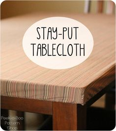 If you have little kids you know that tablecloths can be a bit of a hassle. After our table cloth (and food!) had been pulled off one too many times I took matters into my own hands and sewed a sta...