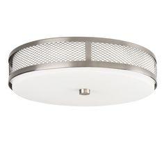 Kichler 42379 1 Light 30 Diode LED Flushmount Indoor Ceiling Fixture Brushed Nickel Indoor Lighting Ceiling Fixtures Flush Mount