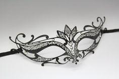Masquerade mask. Pretty! Masquerade Costumes, Venetian Masquerade Masks, Masquerade Ball, Black Mask, Wedding Black, Diy Party Decorations, Laser Cut Metal, Laser Cutting, Gothic Halloween