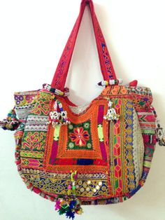 Vintage banjara bag boho gypsy tribal ethnic tote by ROYALEJAYPORE, $119.00