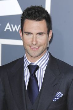 Adam Levine all dressed up.