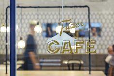 Kokoro & Moi – Fazer Café in Vintage Signage Label Design, Store Design, Package Design, Graphic Design, Cafe Branding, Kokoro, Brand Identity Design, Packaging Design Inspiration, Signage