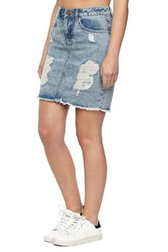 7 WAYS TO STYLE A DISTRESSED DENIM SKIRT | The fashionable ...